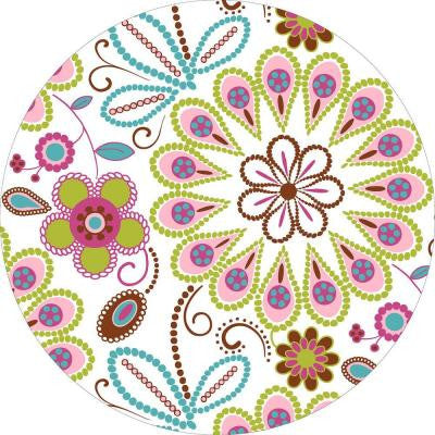 13 in. x 13 in. Kaleidoscope Dot 8-Piece Wall Decal