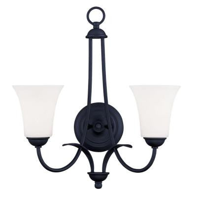 Providence 2-Light Black Incandescent Wall Sconce