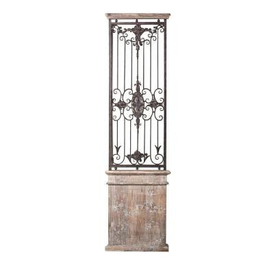Baroness 71 in. Iron/Wood Wall Gate