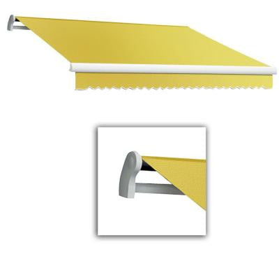 14 ft. LX-Maui Manual Retractable Acrylic Awning (120 in. Projection) in Light Yellow/White