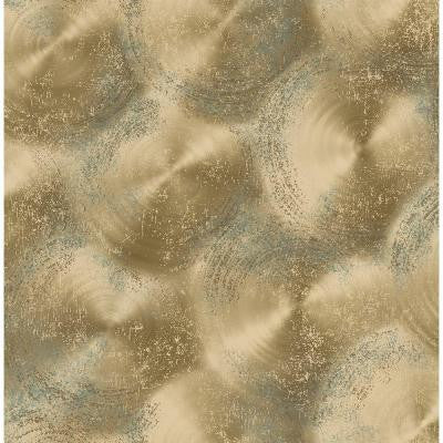 8 in. W x 10 in. H Gold Tarnished Metal Metallic Texture Wallpaper Sample