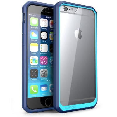 Unicorn Beetle Hybrid Bumper Case for Apple iPhone 6 Plus and 6S Plus - Blue