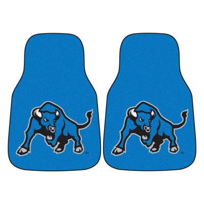 NCAA State University of New York at Buffalo Heavy Duty 2-Piece 18 in. x 27 in. Nylon Carpet Car Mat