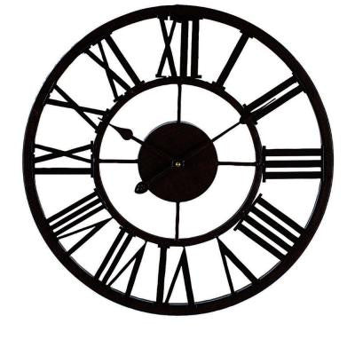 Grayson 17 in. Diameter Round Metal Wall Clock