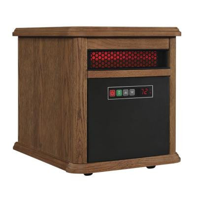 1500-Watt Electric Infrared Quartz Portable Heater - Oak
