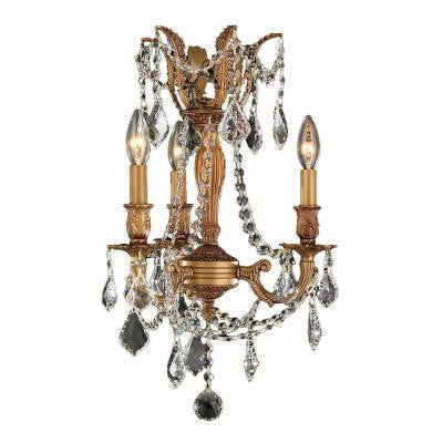 Windsor 3-Light French Gold with Clear Crystal Chandelier