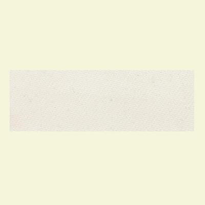 Identity Paramount White Fabric 4 in. x 12 in. Polished Porcelain Bullnose Floor and Wall Tile