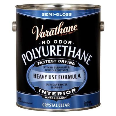 1 gal. Clear Semi-Gloss Water-Based Interior Polyurethane (Case of 2)