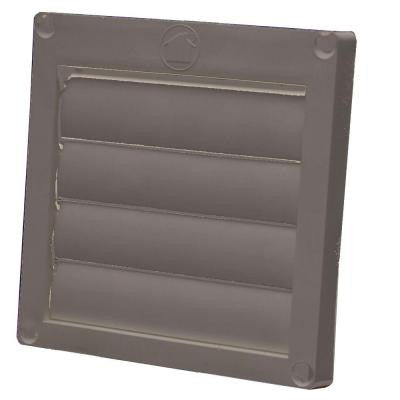 4 in. Louvered Plastic Flush Exhaust Hood in Brown without Tail Pipe