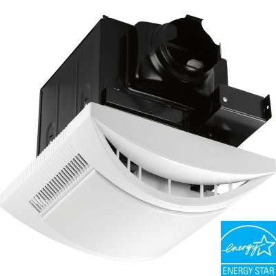 White 1-Light, 80 cfm Ventilation Fan