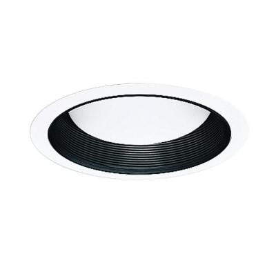 All-Pro 6 in. Black Recessed Lighting Baffle with White Trim