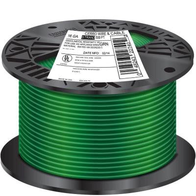 500 ft. 18/1 Stranded TFFN Wire - Green