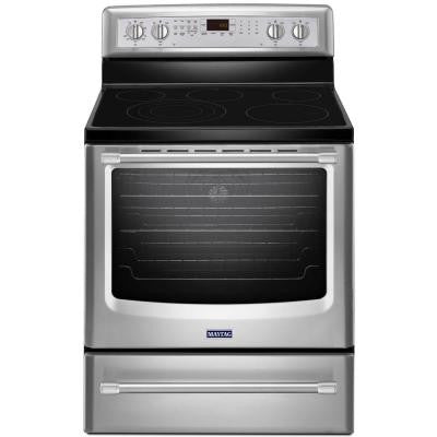 AquaLift 6.2 cu. ft. Electric Range with Self-Cleaning Convection Oven in Stainless Steel