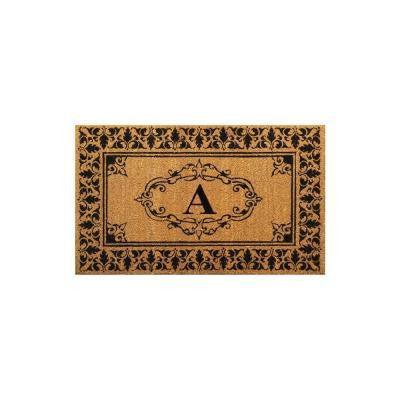 Welcome 30 in. x 48 in. Indoor/Outdoor Monogrammed Letter A Door Mat