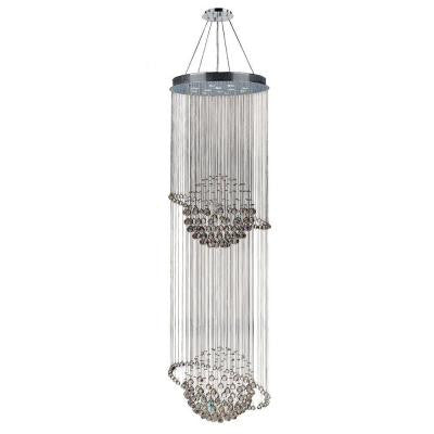 Saturn Collection 12-Light Chrome Crystal Chandelier