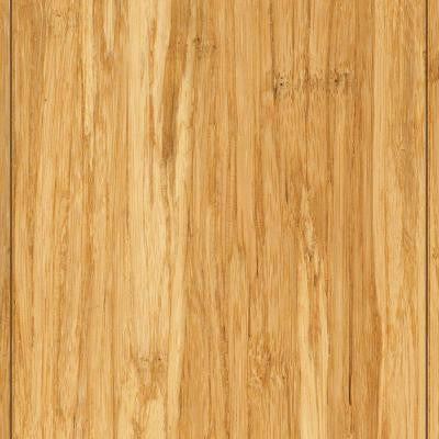 Brushed Strand Woven Lyndon 3/8 in. Thick x 3-7/8 in.Wide x 36-1/4 in. Length Solid Bamboo Flooring (23.41 sq. ft./case)