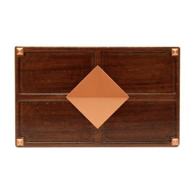 Wireless or Wired Door Bell - Medium Red Oak Wood with Diamond Medallion