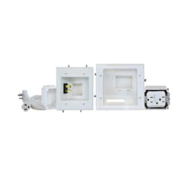 Recessed Pro-Power Kit with Duplex Surge Suppressor and Straight Blade Inlet