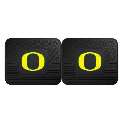 NCAA University of Oregon Black Heavy Duty 2-Piece 14 in. x 17 in. Vinyl Utility Mat