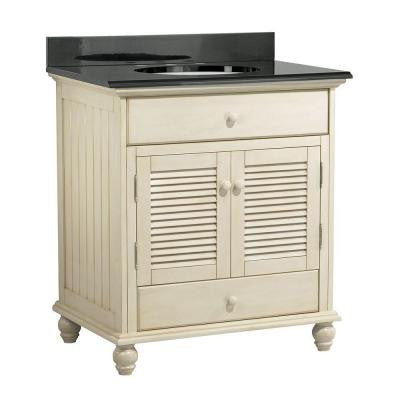 Cottage 31 in. W x 22 in. D Vanity with Colorpoint Vanity Top in Black