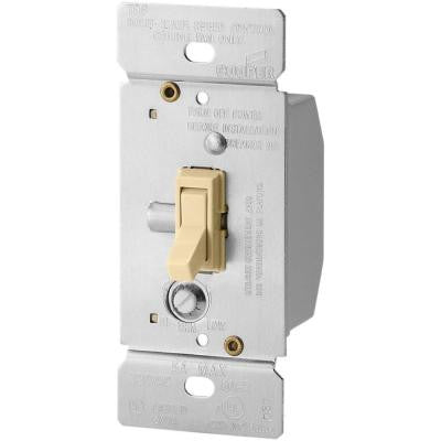 ASPIRE 5-Amp Single-Pole Fully Variable Fan Speed Control Rocker Switch with Non-Preset - Ivory