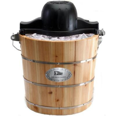 Gourmet 4 qt. Old-Fashioned Ice Cream Maker