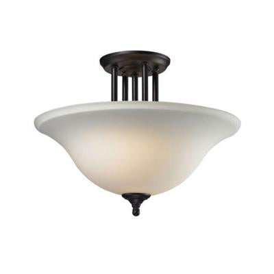 Lawrence 3-Light Bronze Incandescent Ceiling Semi-Flush Mount Light