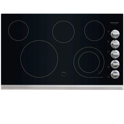 Gallery 36 in. Radiant Electric Cooktop in Stainless Steel with 5 Elements including a 6/9 in. Expandable Element