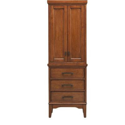 Manor Grove 22 in. W Linen Cabinet in Tobacco