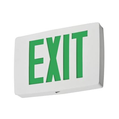 Single Face Red Quantum Die Cast White LED Exit Sign with Battery Backup