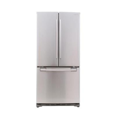 33 in. W 17.5 cu. ft. French Door Refrigerator in Stainless Steel, Counter Depth