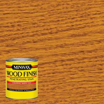 1 qt. Wood Finish Colonial Maple Oil-Based Interior Stain