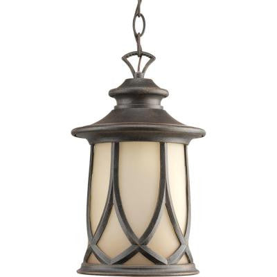 Resort Collection 1-Light Aged Copper Outdoor Hanging Lantern