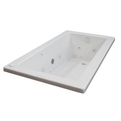 Sapphire 5 ft. Whirlpool and Air Bath Tub in White
