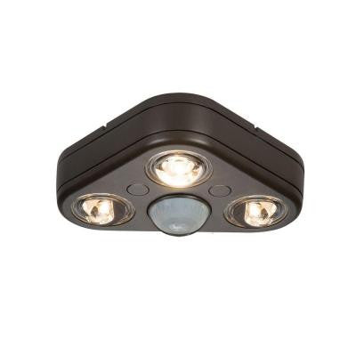 Revolve 270° Bronze Motion Activated Outdoor LED Triple Head Security Flood Light (5000K)