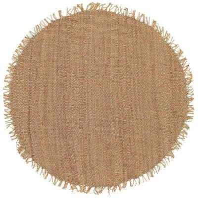 Chiclayo Brown 6 ft. x 6 ft. Round Indoor Area Rug