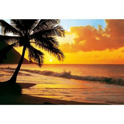 100 in. x 0.25 in. Pacific Sunset Wall Mural