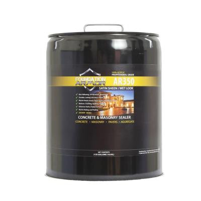 AR350 Ultra Low VOC 5 gal. Wet Look Satin Sheen Acrylic Concrete, Paver and Aggregate Sealer
