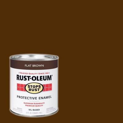 1-qt. Flat Brown Protective Enamel Paint (Case of 2)