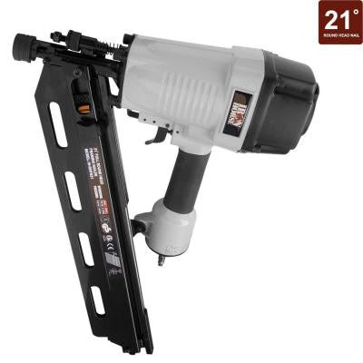 3-1/2 in. 21° Full Round Head Framing Nailer with Case