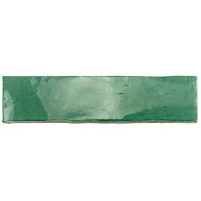 Catalina Green Lake 3 in. x 12 in. x 8 mm Ceramic Floor and Wall Subway Tile
