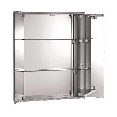 Medicinehaus 23-3/5 in. x 27 in. Surface-Mount Medicine Cabinet in Aluminum