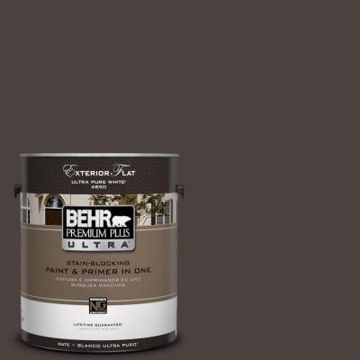 1-gal. #PPU5-20 Sweet Molasses Flat Exterior Paint