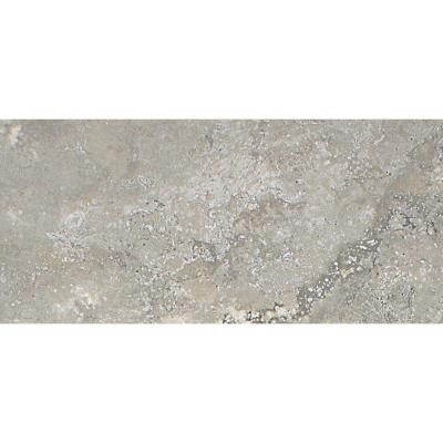 Del Monoco Leona Grigio 3-1/4 in. x 6-1/2 in. Glazed Porcelain Floor and Wall Tile (7.62 sq. ft. / case)