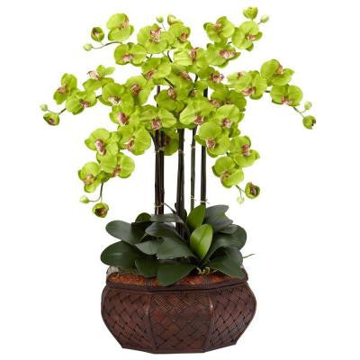 30 in. H Green Large Phalaenopsis Silk Flower Arrangement