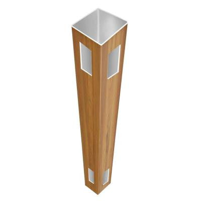 0.135 in. x 5 in. x 8.5 ft. Cypress Vinyl Corner Fence Post