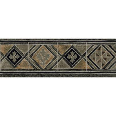 6.8 in. x 15 ft. Earth Tone Moroccan Tile Border