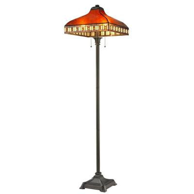 Rose 65.5 in. Java Bronze Floor Lamp