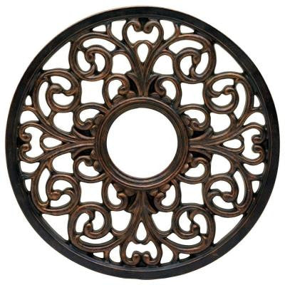 16 in. Round Parisian Scroll Antique Bronze Ceiling Medallion