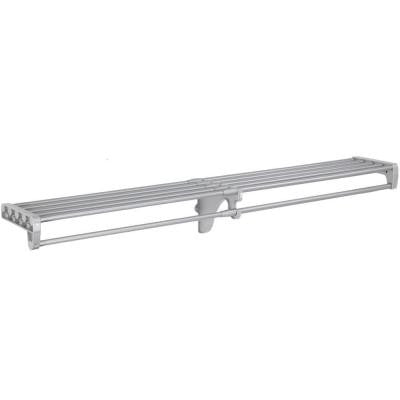 40 in. - 73 in. Expandable Closet Rod and Shelf in Silver (for mounting to 2 side walls - no end brackets included)